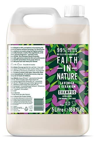 Faith in Nature Lavender and Geranium Bulk Shampoo 5Litre