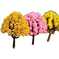Hosaire 3 Pcs DIY Fee-Verzierung Mikrolandschaft Kunststoff Dekor Pflanze Mini Farbige Home Decor DIY Moos Plant pot,Zufall Farbe