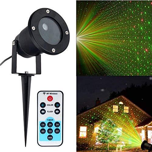 Luz De Proyección LED Starlight con Control Remoto Al Aire Libre Luz del Césped Impermeable