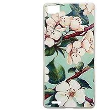 Guran® Silicona Funda Carcasa para CUBOT X16 / X17 Smartphone Bumper TPU case Cover-Flor