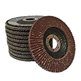 "(PACK OF 5) Aluminium Oxide 80G (Medium) Flap Discs for 115mm (4.5"") angle grinders"