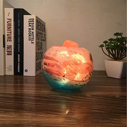 Litaotao Tiefsee-Azur Himalaya-salzlampe Einfache Kreative Warme Dekorative Tischlampe Einstellbare Nachtlicht Schlafzimmer