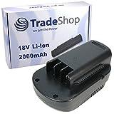 Trade de Shop Premium Batería de ion de litio 18V/2000mAh/36Wh apto para desbrozadora de Güde batería GRT 260, cortasetos de batería GHS 520, AKKU-LAUBBLÄSER GLB 200sustituye 955109551395514955159551795519