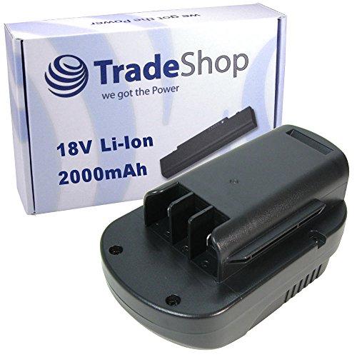 Preisvergleich Produktbild Trade-Shop Premium Li-Ion Akku 18V / 2000mAh / 36Wh passend für Güde Akku-Rasentrimmer GRT 260, Akku-Heckenschere GHS 520, Akku-Laubbläser GLB 200 ersetzt 95510 95513 95514 95515 95517 95519