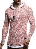 LEIF NELSON Herren Strick-Pullover | Strick-Pulli mit Kapuze | Moderner Woll-Pullover Langarm-Sweatshirt Slim Fit