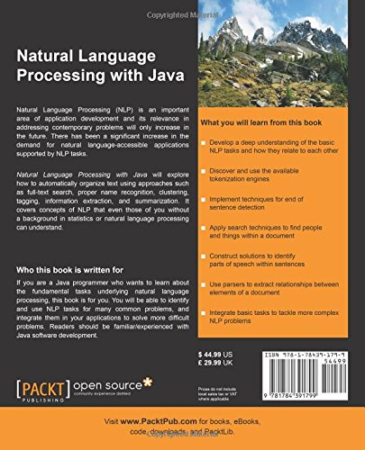 Natural Language Processing with Java (Community Experience Distilled)