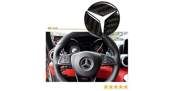 49 mm Adesivo per coprivolante in fibra di carbonio per veicoli MercedesBenz C GLK Herben GLA E CLA GLE
