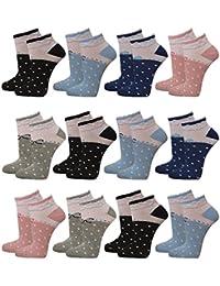 12 | 24 | 36 oder 48 Paar Damen Freizeit Sneakers mehrfarbig mit Rüschen und Punkten - Qualität von Lavazio