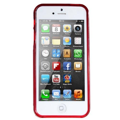 wortek TPU Silikon Schutzhülle S-Line Apple iPhone 5 / 5S / SE Schwarz Rot