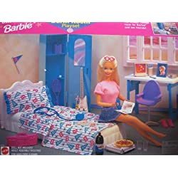 Barbie UNIVERSITY DORM ROOM Playset - Coolest COLLEGE ROOM For BARBIE Doll (1998 Arcotoys, Mattel) by Arcotoys, Mattel