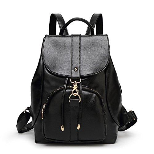 Donne Di Svago Multifunzionale Zaino Dell'unità Di Elaborazione Mini Collegio Bag,Black-OneSize Black