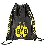 BVB Borussia Dortmund Gymbag Gymsack Turnbeutel (schwarz/gelb, one size)