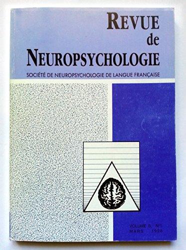 Revue de Neuropsychologie - Volume 8 - numéro 1 - mars 1998