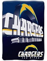 "San Diego Chargers NFL Micro Raschel Blanket (Bevel Series) (80x60"")"""