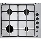 Electrolux Rex RGG 6041 NOX hob - hobs (Built-in, Gas, Stainless steel, Stainless steel, Rotary, Top right)