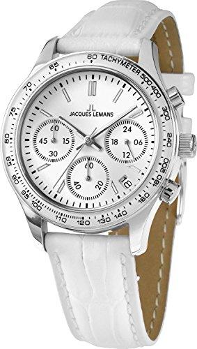 Jacques Lemans Damen-Armbanduhr Chronograph Quarz 1-1587ZA