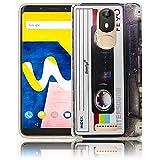Wiko View Lite Passend Kassette Retro Handy-Hülle Silikon - staubdicht, stoßfest & leicht - Smartphone-Case