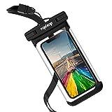 Tapleap Wasserdichte Handyhülle Tasche Beutel für iPhone X 8 7 6 6s (Plus) Schwimmen Tauchen Wasserpark Unterwasser Fotografieren Samsung S9 S8 S7 S6 (edge) Note Huawei HTC, bis zu 6 Zoll