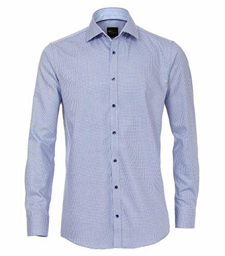 Michaelax-Fashion-Trade Camicia Classiche - A Quadri - Classico - Maniche Lunghe - Uomo Blau (100)