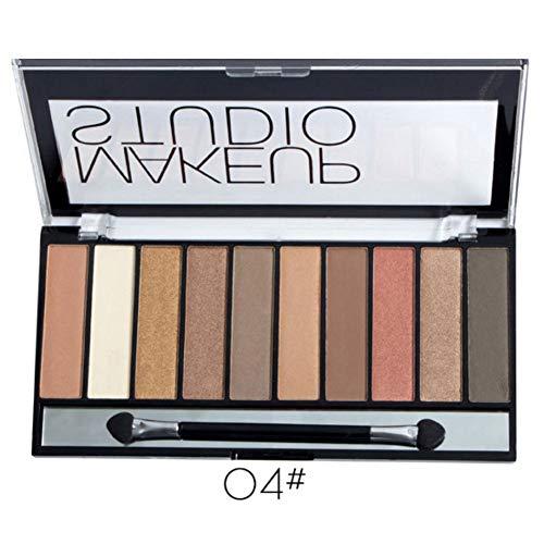 Aesyorg 10 Farben Glänzender Stoff Lidschatten Wasserdichte und schmutzabweisende Lidschatten-Palette Rauchiges Make-up