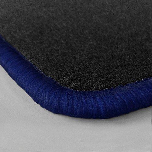 Preisvergleich Produktbild (Randfarbe nach Wahl) Passgenaue Fußmatten aus Nadelfilz mit dunkelblauem Rand (312)