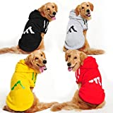 shanzhizui Große Hunde Fleece-Pullover Golden Retriever Labrador Große Hundekleidung, gray, 5xl