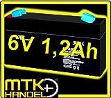 VISION CP612 / 6V 1,2Ah AGM Blei Akku Batterie VDS