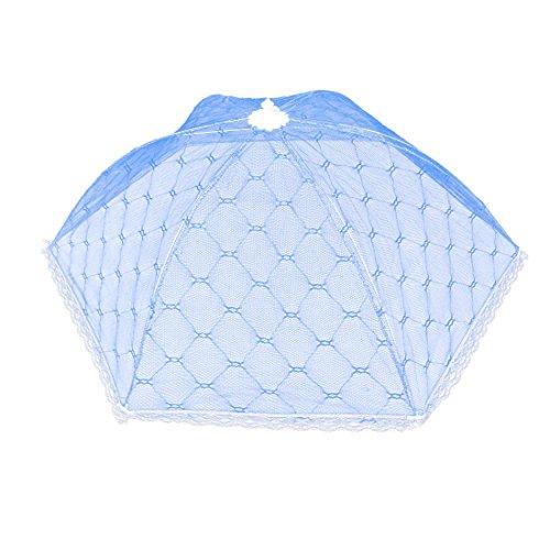 Preisvergleich Produktbild Schirm aus Metall, für die Küche, für Lebensmittel, faltbar, Nylon, Blau