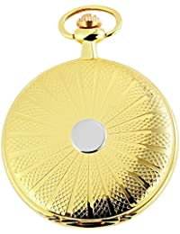 Tavo Lino Analog Reloj de bolsillo con cadena de metal y cierre de gancho 480802000002Oro Coloreado Carcasa en tamaño 48mm x 12mm con esfera de color blanco y cristal mineral.