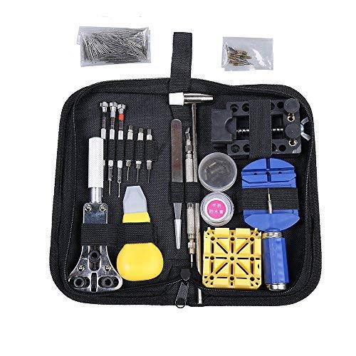 Uhrenzubehör 19 Stücke Uhr Reparatur Werkzeug Kit Link Remover Frühling Bar Werkzeug Opener Schraubendreher Fall Halten Sie Die Ganze Zeit Fit
