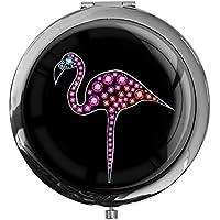 """metALUm - Extragroße Pillendose in runder Form""""Flamingo"""" preisvergleich bei billige-tabletten.eu"""