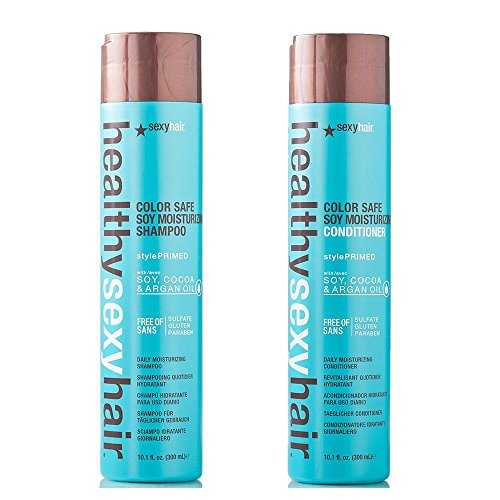 Sexy Moisturizing Conditioner (Sexy Hair Healthy Sexy Soy Moisturizing Color Safe Shampoo & Conditioner Duo 10oz each by Healthy Sexy)