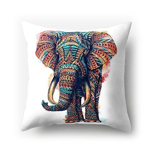 ch Samt Animal Kissen Cute Cartoon Creative Elefant Druck 18x 18/45x 45cm Überwurf Weich Plüsch Samt Kissen für Home Sofa Bett Deko, Polyester, 15, 45 cm*45 cm (Boden 15 Halloween)