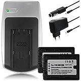 Chargeur + 2x Batteries VW-VBK360 pour Panasonic HDC-SD99, SDX1, TM40, TM55, TM60, TM80, TM90