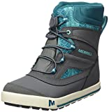 Merrell Mädchen Ml-g Snow Bank 2.0 Waterpoof Trekking-& Wanderstiefel, Grau (Grey/Turquoise), 38 EU