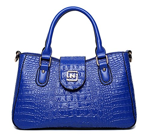 Keshi Pu Nouveau style - Sac à main femmes - Porté MAIN et EPAULE Bleu