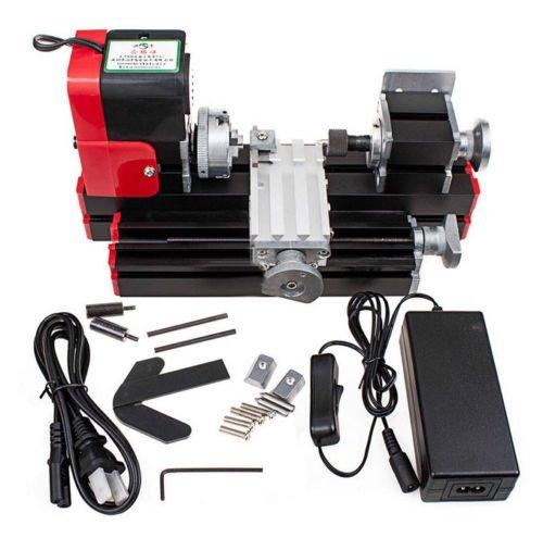 Jian Ya Na Mini metallo tornio fai da te mini tornio di legno metallo motorizzato macchina 20000rev / m lavorazione del legno Hobby Strumento Rosso