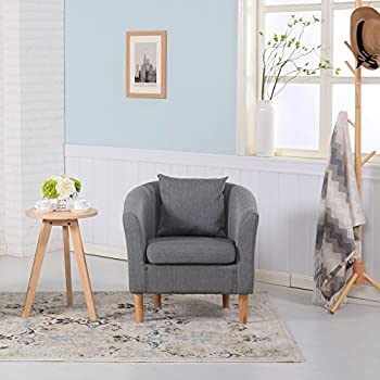 Premium Linen Fabric Tub Chair Armchair Dining Living Room