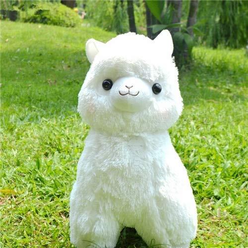 CGDZ 1 STÜCK 35/45 cm Schöne Japanische Alpacasso Stofftiere Puppe Kawaii Schafe Alpaka Plüsch Kuscheltiere Spielzeug Kinder Weiß 45 cm