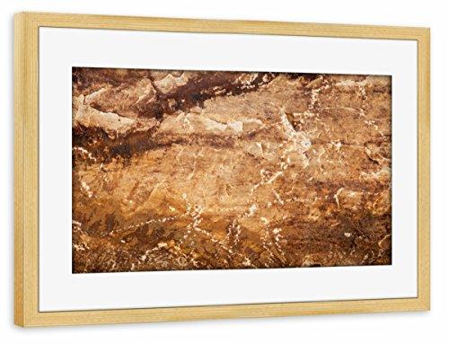 artboxONE Poster mit Rahmen Kiefer 60x40 cm Sandstein von Sebastian Worm - gerahmtes Poster -