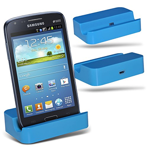 (Baby Blue)Samsung i8260 Galaxy Core Micro-USB-Desktop-Ladestation stehen Berg By ONX3