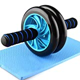 HXT AB Roller Abdominal Roller Roue Musculaire Exerciseur pour Gym Fitness Bleu