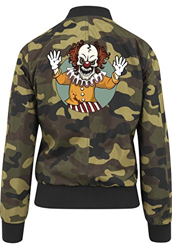 Evil Clown Bomberjacke Girls Camouflage Certified Freak-XS