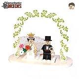 LEGO Minifiguren Individuell Braut & Bräutigam Hochzeit Kuchen Tisch Dekoration Set Individuell konfigurierbar