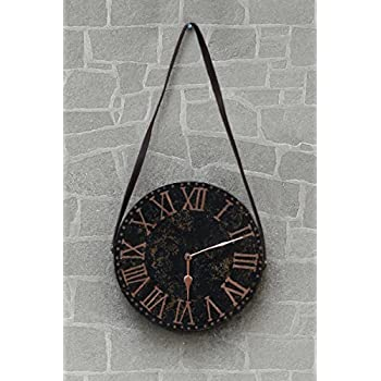 Wooden Round Wall Clock Bohemian Style Country Rustic Finish Home Room Decor Gifting Purpose