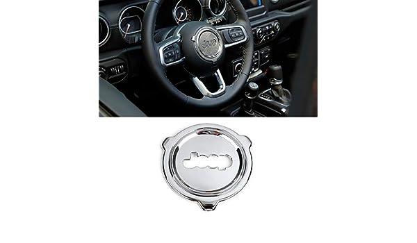 Volant Garniture de Couvre-Volant pour Jeep Wrangler JL 2018,Rouge Anneau Central L/&U Accessoires internes Auto