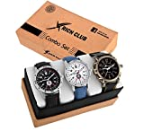 Rich Club Quartz Movement Analogue White and Black Dial Men's Watch - ABRX-COMBO
