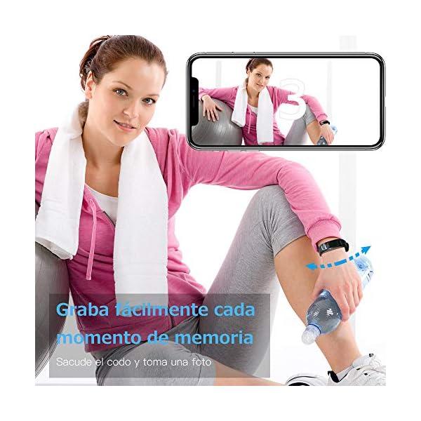 Sonkir Fitness Tracker HR, Reloj de Seguimiento de Actividad con Monitor de frecuencia cardíaca, podómetro, Contador de calorías, Monitor para Dormir, Pulsera Inteligente Resistente al Agua IP68 6