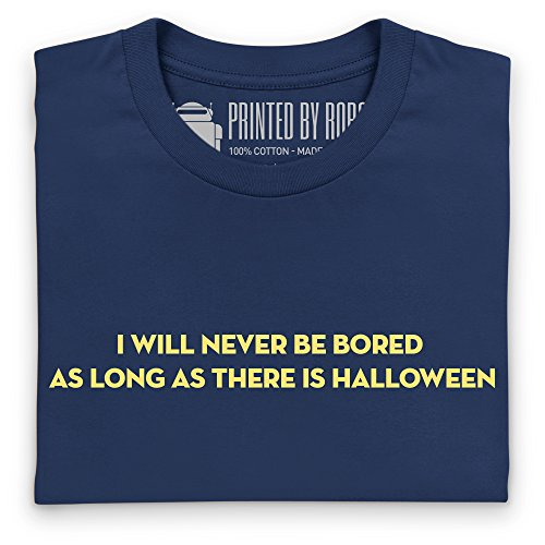Never Bored T-Shirt, Damen Dunkelblau