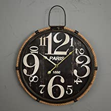 Viento industrial redondos tapices pared reloj/creative living comedor pared/relojes de fichar o reloj de pared decorativo de estilo americano , dial , 18 inches